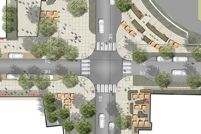 Roosevelt Streetscape   GCH - Seattle Landscape Architecture